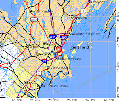 map of maine cities portland maine me profile population maps estate