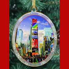 new york city landmarks ornaments gift set ny