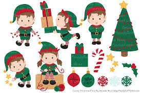 christmas elves christmas elves patterns illustrations creative market