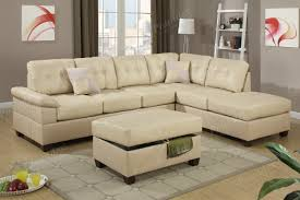 Living Room Sectional Sets by Two Piece Sectional Set Khaki Bonded Leather Sofa Chaise Living