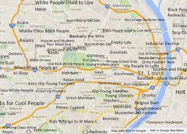 map st louis judgmental map of st louis the st louis egotist