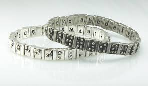 Alphabet Blind Braille Alphabet Bracelet Is A Stylish Learning Tool For The Blind