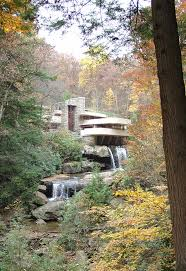 art work at fallingwater a frank lloyd wright designed home in