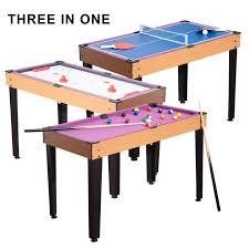 3 in one pool table homcom 3 in 1 mini games table reviews wayfair ca