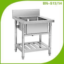 kitchen sink with backsplash business industrial equipment free standing stainless sink