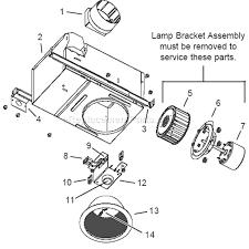 can light replacement parts broan 744 parts list and diagram ereplacementparts com