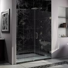 Frameless Glass Shower Door Kits Bathroom Modern Glass Dreamline Shower Door Decor With Chrome