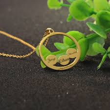 necklace names aliexpress buy golden plated custom 3 4 family names
