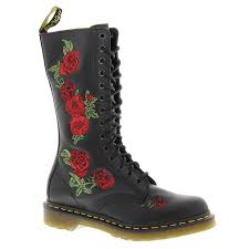 womens boots uk dr martens vonda embroidered 14 eye s free shipping at