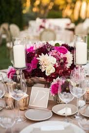Reception Centerpieces Pantone Color Of The Year Marsala Wedding Trends Inside Weddings
