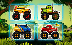 monster trucks trucks for children jungle monster truck adventure race android apps on google play