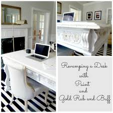 My Gold Desk Home Office How To Redesign A Space Stylish Revamp