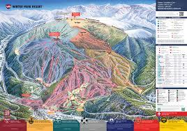 World Map Winter by Winter Park Resort Skimap Org