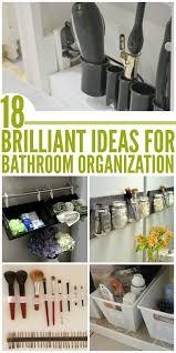 brilliant ideas for organized bathroom