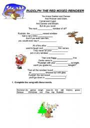 english teaching worksheets rudolph red nosed reindeer