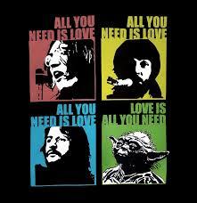 Beatles Yoda Meme - yoda love is all you need star wars beatles wolken cz nebesky