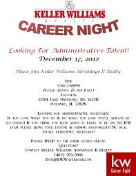 Real Estate Salesperson Resume Real Estate Agents Host A Career Fair For Aministrative Assistants
