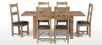 solid oak table with 6 chairs rustic oak 132 198 cm extending dining table and 6 chairs quercus