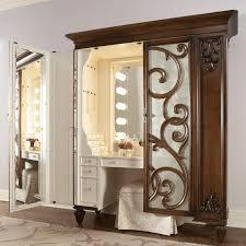 bathroom makeup vanities for exciting bathroom and bedroom elegant brown and white wood makeup vanities with