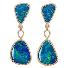 detachable earrings floating islands collection opal and diamond detachable earrings