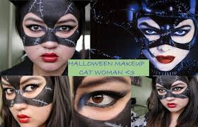catwoman halloween suit halloween makeup tutorial catwoman youtube