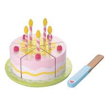 buy elc wooden birthday cake toys 5 8 range tesco