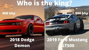 Dodge Muscle Cars - the ultimate muscle car 2018 dodge demon vs 2019 ford mustang
