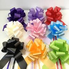 pull bows pull bows 50mm various colours florist wedding and craft