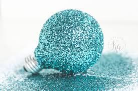 glitter light bulb ornament ka styles