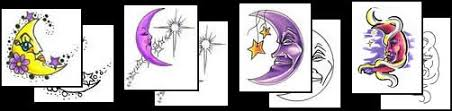crescent moon tattoos what do they tattoos designs