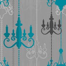 Grey Wallpaper Living Room Uk Wilko Chandelier Wallpaper Teal Grey Wp332112 Willow U0027s Room