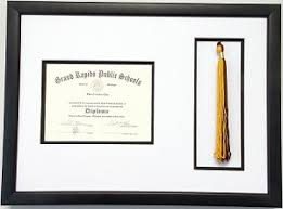 graduation tassel frame high school graduation certificate document 6x8 with tassel opening