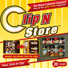 Kitchen Collectables Store by Clip N Store Spice Holder As Seen On Tv Com Shop