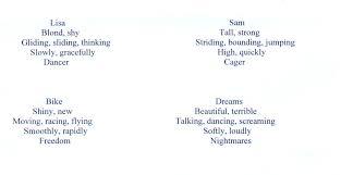 examples of cinquain poems Google Search ELA