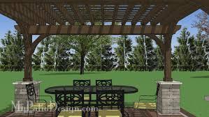 5 Ft Patio Swing With Cedar Pergola Create by 12x16 Cedar Pergola Design With Columns Downloadable Plan
