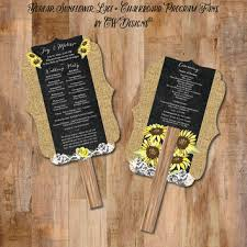 sunflower wedding programs best lace wedding programs products on wanelo