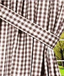 Brown Gingham Curtains Brown Gingham Check Lined Or Unlined Window Curtains