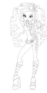 clawdeen wolf shows something coloring pages monster high