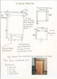 Wooden Kitchen Garbage Cans free trash can plans woodworking plans and information at