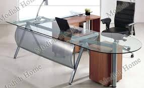 Modern Glass Executive Desk Glass Office Tables Stunning Plain Computer Desk Magnificent Home