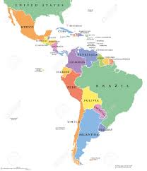 Latin Country Flags Latin America Single States Political Map Countries In Different