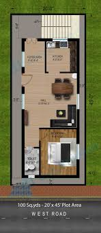 20x45 House Design East Facing