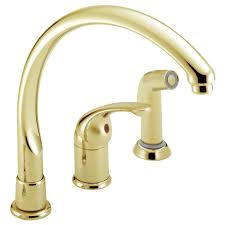 delta waterfall kitchen faucet 172 pbwf single handle kitchen faucet