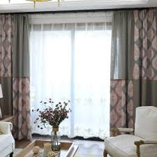 Demask Curtains Color Block Gray Shabby Chic Damask Curtains