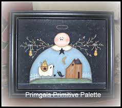 Sheep Home Decor Primitive Angel Picture Saltbox Sheep Canvas Home Decor Framed