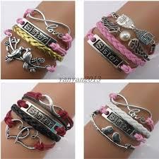 bracelet style images 2018 mix style vintage double heart sister bracelet sister jpg