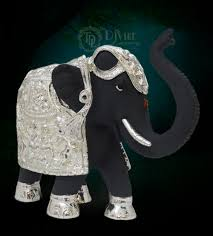home decor gifts online india black elephant 6 inch a master showpiece in the form of elephant
