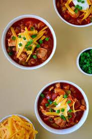 30 minute leftover turkey chili just a taste