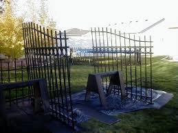 halloween cemetery fence ideas raven manor projects cemetery gate u0026 fence