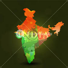 Story Of Indian National Flag Republic Of India Map In Indian Flag Color Royalty Free Stock